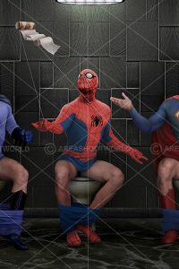 BATMAN-SPIDERMAN-SUPERMAN -thedailyduty
